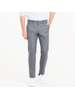Ludlow Slim-fit suit pant in heathered Italian wool flannel