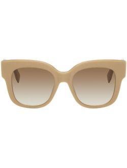 Beige Square Sunglasses