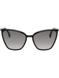 Black Baguette Cat-Eye Sunglasses