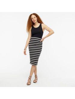 Knit pencil skirt in stripe