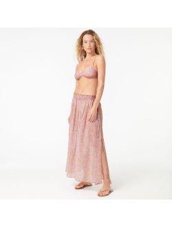Cotton voile beach skirt in beach paisley