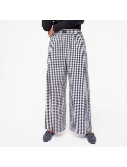 Wide-leg pajama pant in gingham