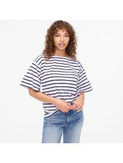 Mariner cloth ruffle-sleeve T-shirt in stripe
