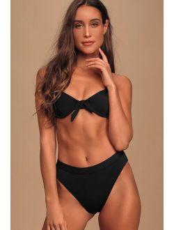 Feeling Beach-y Black Bikini Bottoms
