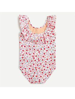 Girls' ruffle-trim one-piece swimsuit