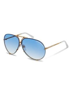 P8478 W Sunglasses Frame Light Gold W/blue Gradient & Crystal Brown (v573) 69mm Authentic