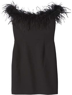 Milly Minis Londyn Feather Cady Dress (Big Kids)
