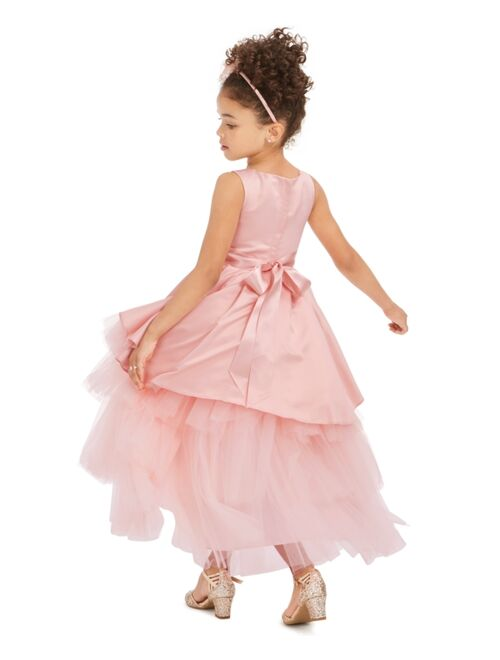 Rare Editions Little Girls Satin & Tulle Tiered Gown