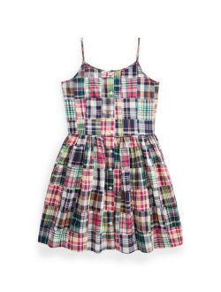 Big Girls Patchwork Madras Dress