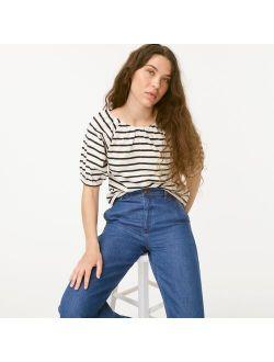 Mariner cloth puff-sleeve top in stripe