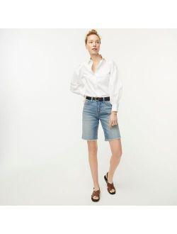 Long denim shorts in Norwalk wash
