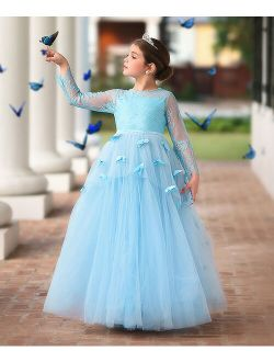 Trish Scully Child Blue Mariposa Gown - Toddler & Girls