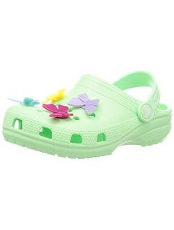 Unisex-child Classic Butterfly Charm Clog
