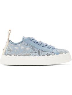 Chloé Blue Lace Lauren Sneakers