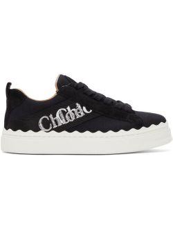 Chloé Black Canvas Lauren Sneakers