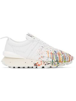 Lanvin White Gallery Dept. Edition Leather Bumpr Sneakers
