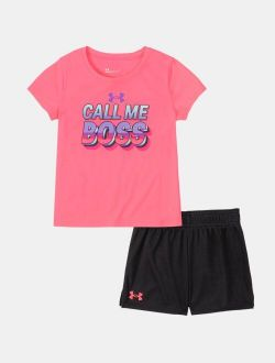 Girls' Pre-School UA Call Me Boss Set