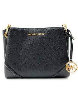 Nicole Large Triple Compartment Cross-body Bag (black)