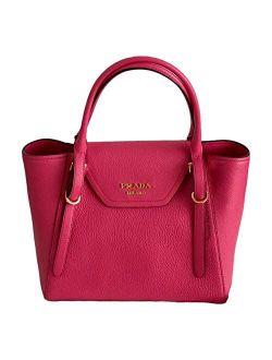 Vitello Grain Magenta Pink Top Handle Crossbody Handbag 1ba270