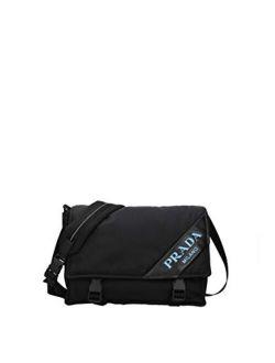 Black Nylon Messenger Shoulder Bag 1bd157 Nero