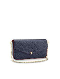 Pochette Felicie Monogram Empreinte Leather Purse Handbags Bag