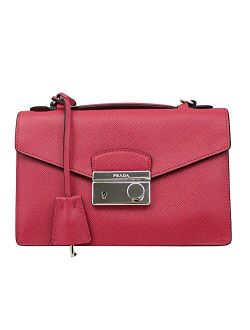 Pink Saffiano Leather Clutch Bag W/strap Bt0960 Peonia