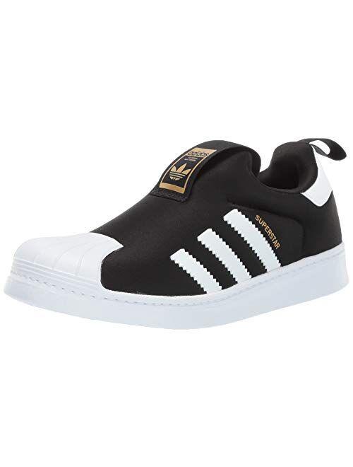adidas Originals Kids' Superstar 360 Sneaker, Core Black/White/Gold Metallic, 12K