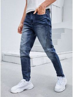 Men Washed Tapered Jeans