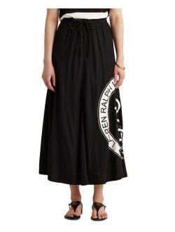 Monogrammed Logo Midi Skirt