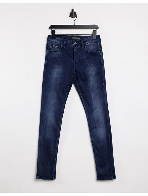 Guess Elevate super skinny jeans in clean blue vintage
