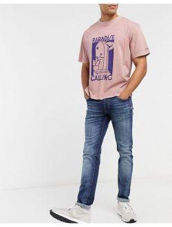 Jack & Jones Intelligence Glenn super stretch slim tapered jeans in darkwash blue