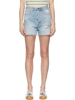 Blue Denim Eco Washed Organic Shorts