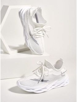 Lace Up Decor Running Shoes