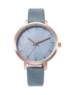 Don't AsK Blue & Rose Goldtone Bracelet Watch