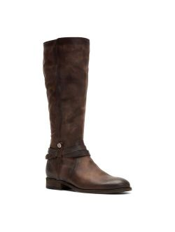 Melissa Belted Women's Leather Knee-High Boots