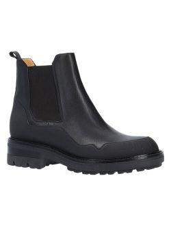 Donatello Black Textured Belka Leather Chelsea Boot - Women