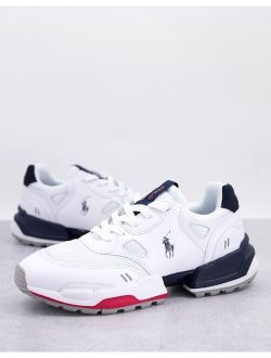 jogger sneakers in white with pony logo