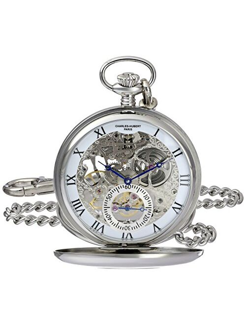 Charles-Hubert Paris Charles-Hubert, Paris 3972-W Premium Collection Analog Display Mechanical Hand Wind Pocket Watch