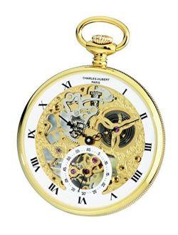 Charles-Hubert, Paris 3971-G Premium Collection Analog Display Mechanical Hand Wind Pocket Watch