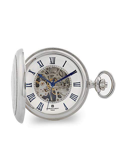 Charles-Hubert Paris Charles Hubert Chrome Finish Open Window Case Pocket Watch