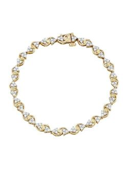 10k Gold 1 1/2 Carat T.W. Diamond S-Link Tennis Bracelet