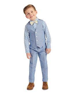 Little Boys 4-Pc. Floral Vest Set