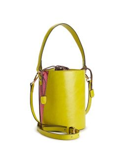 AmeriLeather Brenna Cylinder Crossbody Bag