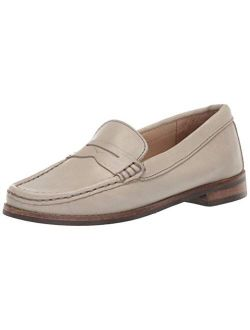 Unisex-child Leather Boys/girls Casual Comfort Slip On Moccasin Penny Loafer Driving Style