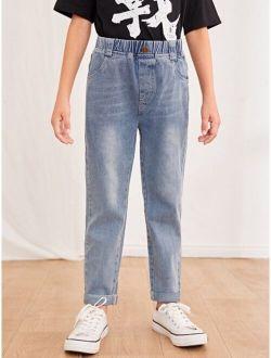 Boys Slant Pocket Straight Leg Jeans