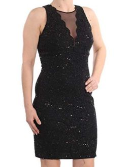 Nightway Women's One Piece Laced Short Cocktail Dress