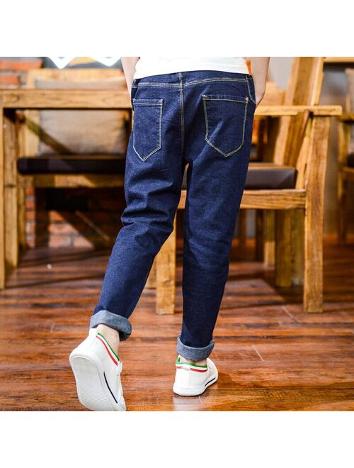 new boys loose jeans trousers pants children Spring and Autumn  long denim trousers 6-12 year