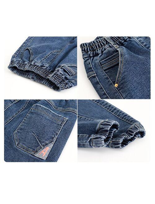 Boys Pants Children Jeans Korean Clothing Big Kids Denim Long Trousers Spring Autumn Teenage School Clothes 2021 New 12 14 years
