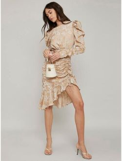 MOTF PREMIUM FITTED RUCHED ASYMMETRICAL DRESS