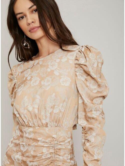 Shein MOTF PREMIUM FITTED RUCHED ASYMMETRICAL DRESS